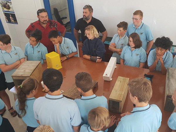 Students in the Te Waka STEM Innovation Hub